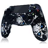 Mando PS4 Inalámbrico 2020 Nuevo diseño High Performance Dual Shock para Playstation 4 / Pro/Slim/PC con función de Audio, Mi