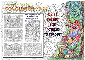 ARMAND FOSTER'S A3 COLOURING PACK No. 1