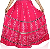 CAY Kutchi Floral Print Cotton Pink Long...