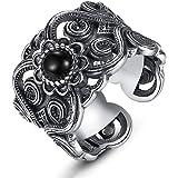 خاتم للرجال من الفضة الاسترلينية 990 من لوف كوم، خاتم مفتوح من الفضة التايلاندية، مجوهرات فضية رائعة كهدية في حفلة اعياد المي