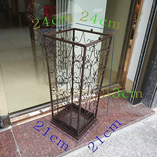 GYZ Schirmständer Home Schmiedeeisen Kreative Büro Regenschirm Eimer Hängen Taschenschirm Aufbewahrungseimer, 53X24X21 cm (Farbe : C)