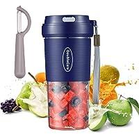 Mixeur portable, mini melangeur a smoothie, melangeur de fruits personnel, Presse-agrumes electrique USB portable avec 2…