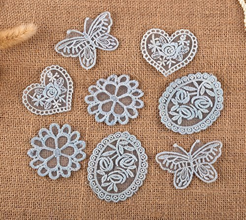 8 Ornamenti Patches Applicazioni, Applique, Vintage Toppe