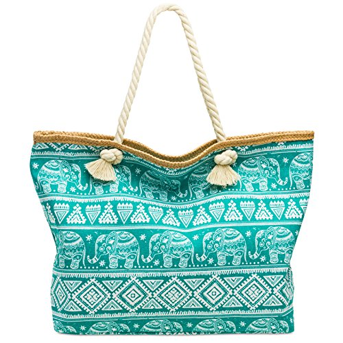 CASPAR TS1042 XL Bolso de Playa para Mujer/Bolso de Mano Shopper con...