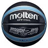 Molten BGRX Deep Channel Basketball–Schwarz/Blau, Größe 5