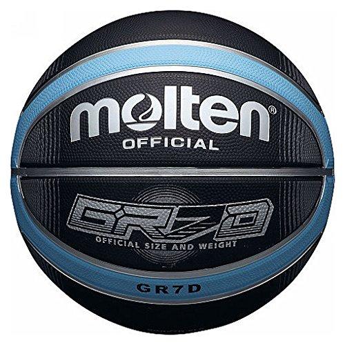 Molten Basketball BGRX Deep Channel, Blau/Schwarz, Größe 6
