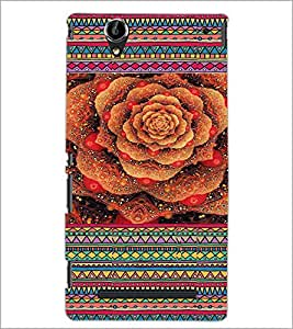 PrintDhaba Flower D-3610 Back Case Cover for SONY XPERIA T2 ULTRA (Multi-Coloured)