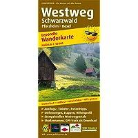 Westweg Schwarzwald, Pforzheim - Basel: Leporello Wanderkarte wetterfest, reissfest, abwischbar, GPS-genau. 1:50000: Mit…