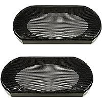 tomzz Audio 2800–005rejilla de altavoz para barbacoa para 4x 6pulgadas de altavoces, negro, 2piezas), aro de plástico con rejilla de metal, de