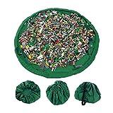 Busta per giocattoli, Organizzatore con Coulisse Lego Tappeto Toocoo Spalla Oversize Tappetino Impermeabile per Picnic e Giochi per Neonati Dimensioni - 150cm (Verde)