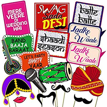 WOBBOX Wedding Photo Booth Party Props DIY Kit: Amazon in