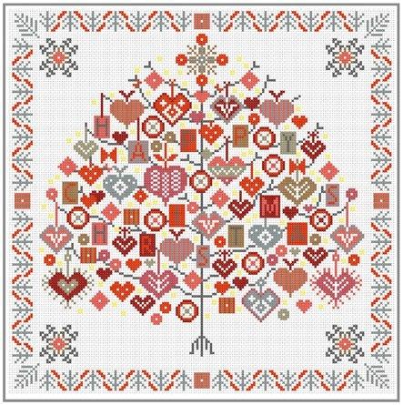 Happy Albero di Natale a punto croce