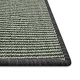 Floori® Sisal Kratzteppich | Naturfaser: nachhaltig und umweltfreundlich | Dunkelbraun, 100x100cm - 3