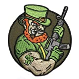 Angry Leprechaun AR-15 Embroidered Patriotic Irish Tactical Morale Patch