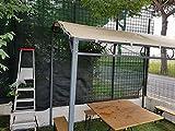EUROLANDIA ombrellone Bamboo 180//8 c//sfiatatoio palo Legno Tessuto Poliestere 160 gr