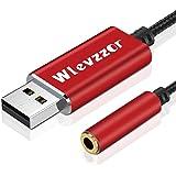 USB till 3,5 mm jack aux-adapter, externt stereoljudkort med chip, TRRS 4-stifts mikrofon, lämplig för headset, PS4, PC, bärb