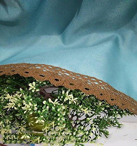 e Gaze Kaffee Vorhang Küche kurzen Vorhang Halbschatten kleinen Vorhang für Dekoration Rod Tasche , 1pc(170*60 cm) ()