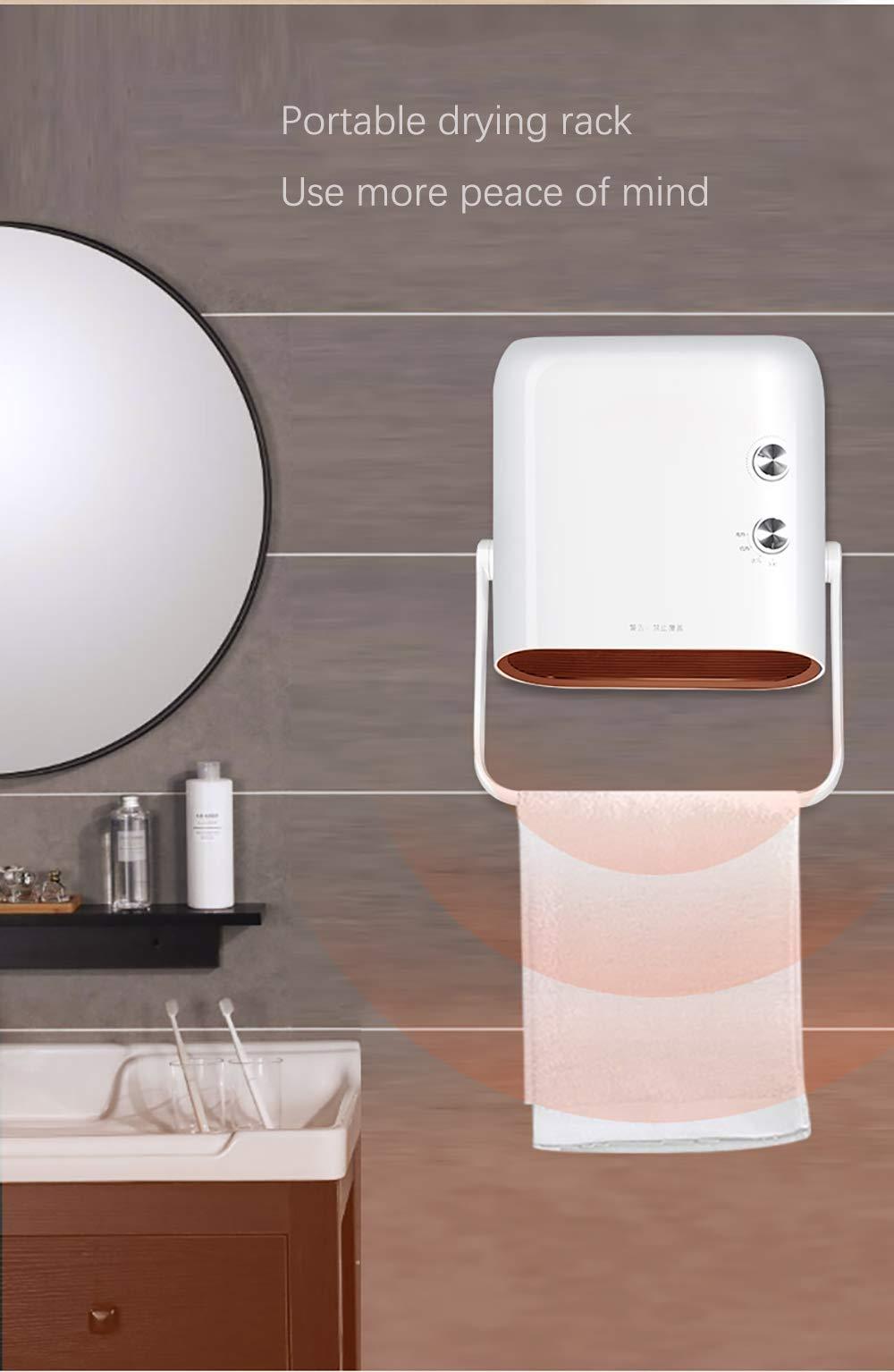 Calentador Espacial, Mini Ventilador Calefactor Personal, Viento Cálido / Natural Para Baño, Oficina Y Hogar, 3 Modos… 2
