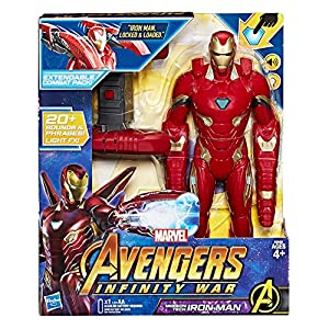 Hasbro Marvel Avengers - Infinity War Iron Man Mission Tech Titan Hero con Accesorio, diseño, Action Figure, e0560103