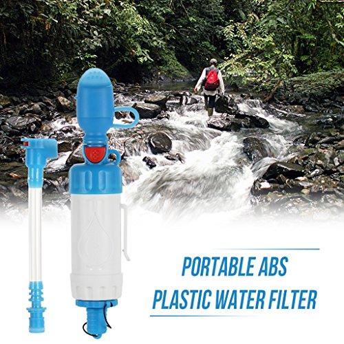 JIBO Tragbare Outdoor Wasserfilter Camping Wandern Druckluftreiniger Reiniger Wild Trinken Sicherheit Überleben Notfall Luftreiniger,White