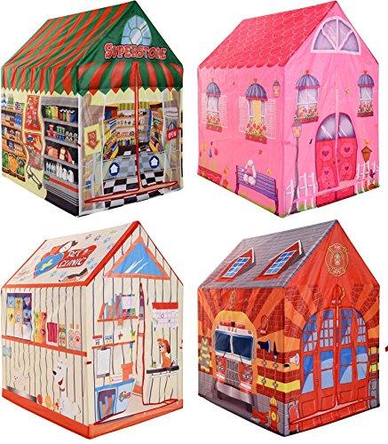 feuerwehrzelt matrasa Spielzelt Kinderzelt - Tierklinik Feuerwehr Kaufladen Prinzessin - 95x72x102 (Kaufladen)