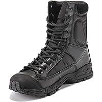 Daytwork Leather Waterproof Bottes Travail - Homme Chaussures de Travail Militaires Combat Bottes Cheville Tactique…