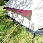 skandika Tipii II 8 Person Tent Festival Party Tent Teepee Wigwam with 250 cm Height, 3000 mm Water Column & Zip-Up… 15