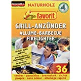 Brunner Camping Products 350/122 Favorit Grill Firelighters Pack of 36 Natural Wood Fibre