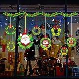 1 Blatt 45x60 Cm Frohe Weihnachten Wandaufkleber Nicht Kleber Static Nette Bunte Muster DIY Schaufenster Fensterglas Hintergrund Neujahr Dekoration