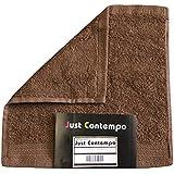 Just Contempo - Toalla (algodón egipcio, suave, 600 gsm), toalla para la cara 30 x 30 cm, marrón