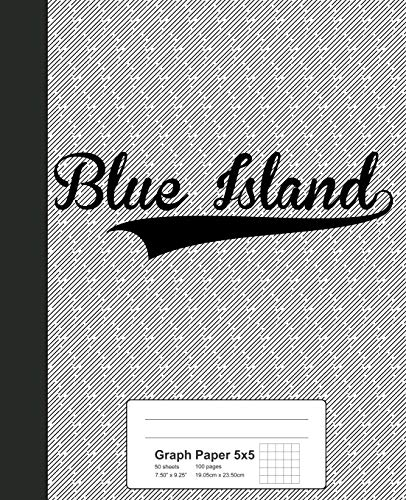 Graph Paper 5x5: BLUE ISLAND Notebook (Weezag Graph Paper 5x5 Notebook, Band 2452)
