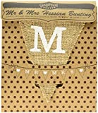 Ginger Ray Mr & Mrs Hessian Burlap Bunting - Wedding or Party Decoration Banner - Vintage Affair