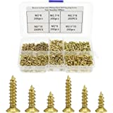 DXLing 1200 Pieces Self Tapping Screw Assortment Kit Small Screw Self Drilling Screws Set Carbon Steel Phillips Pan Head Scre