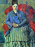 Das Museum Outlet – Potrait Of Mme Cezanne In Red Sessel by Cezanne, gespannte Leinwand Galerie verpackt. 147,3 x 198,1 cm