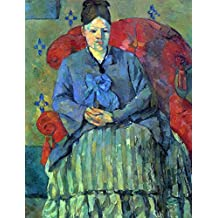 The Museum Outlet - Potrait of Mme Cezanne in Red Armchair by Cezanne - Canvas Print Online Buy (60 X 80 Inch)