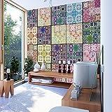 murando - PURO TAPETE - Realistische Tapete ohne Rapport und Versatz - Kein sich wiederholendes Muster - 10m Vlies Tapetenrolle - Wandtapete - modern design - Fototapete - Orient Ornament f-C-0013-j-b