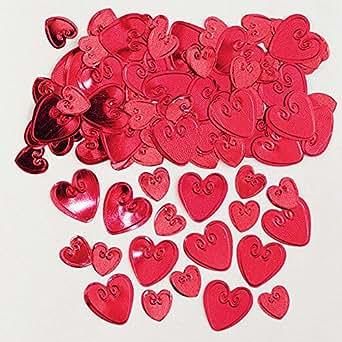 Amscan 990085614g Loving Herzen Ruby geprägt Metallic-Konfetti
