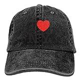 Voxpkrs I Love York Casual Denim Baseball Cap Peaked Cap Hat Adjustable Sport Trucker Cap for Men Women Unisex DV2148