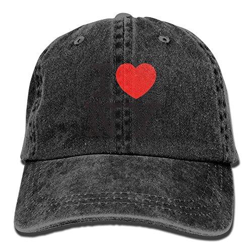 Voxpkrs Ich Liebe York Casual Denim Baseball Cap Schirmmütze Hut Einstellbare Sport Trucker Cap für Männer Frauen Unisex DV2148 -