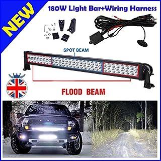 81,3cm große LED-Kombo-Lichtleiste mit Steuerkabelbaum als Setmit180W, 6000K und hellen weißen Leuchten für Autos/SUV/Truck