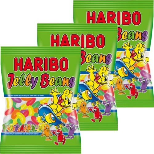 Haribo Jelly Beans Gellee-Dragees 3x175g (Orange Jelly Beans)