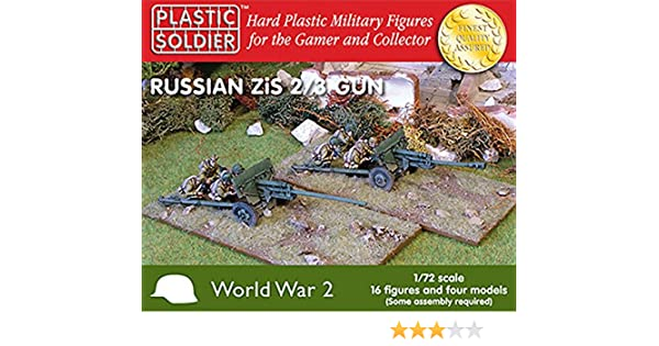 WW2 PLASTIC SOLDIER COMPANY 15mm RUSSIAN ZIS 2//3 GUN