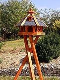 Vogelhaus-Vogelhuser-mit-Solarbeleuchtung-mit-und-ohne-Stnder-behandelt-Typ-23