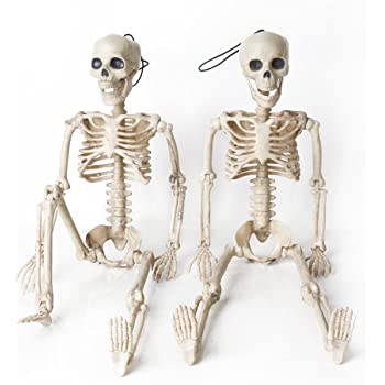 bompow halloween skeletons decorations full body posable joints skeletons