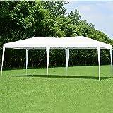 yongtaifeng Tente de Réception 3x6 m Imperméable Tente Pavilion Chapiteau Tonnelle Jardin Pavillon de Jardin Pavillon Pliant (Blanc)