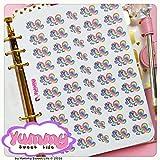 2 FOGLI DI ADESIVI Stickers A5 Rainbow l' Unicorno