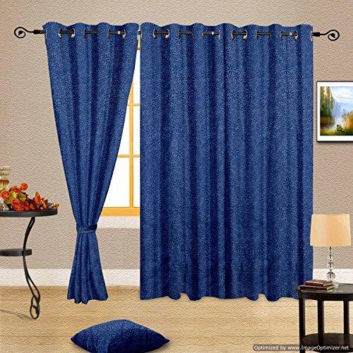 Cortina Emboss Long Door Curtain-45 Inch Width x 108 Inch Height ...