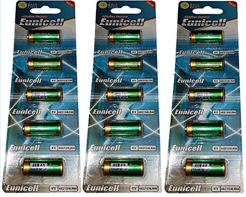 15 x 4LR44 6V ( 3 Blister a 5 Batterien ) Quecksilberfreie Alkaline Batterien PX28, 4G13, 476A, L1325 Markenware Eunicell FBA
