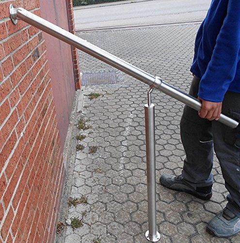 Edelstahl Geländer Handlauf Treppengeländer Balkongeländer V2A Treppe Bausatz mit Montagematerial (100)