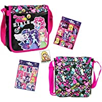 2piezas My Little Pony Equestria Girls–Super–Juego de bolso/bolsa de hombro/bolso de mano (20x 20x 5cm) + 16Equestria Girls Pegatinas